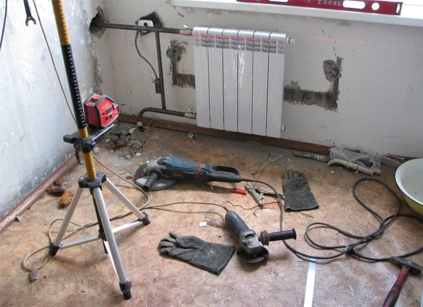 Самостоятельный демонтаж и разборка радиаторов отопления