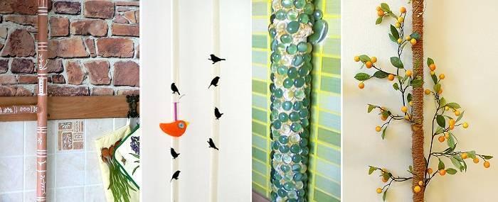Как задекорировать трубу отопления: как декорировать, дизайн в комнате, как обыграть в интерьере, декор