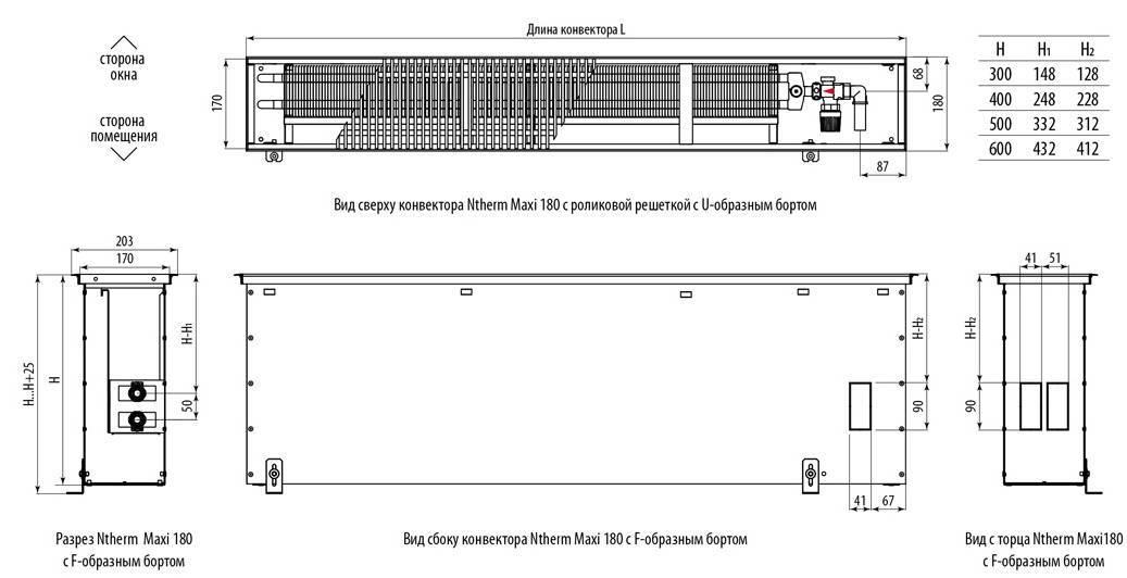 Напольный радиатор: низкие водяные батареи отопления и электрические для панорамных окон, крепление к полу и другие способы установки