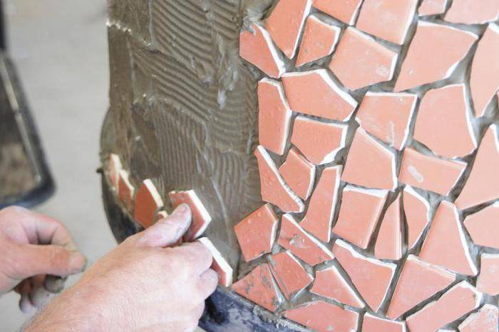 Инструкция по облицовке печи терракотовой плиткой