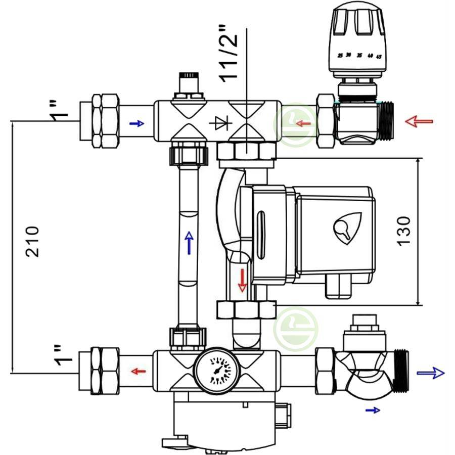 Сборка и установка коллектора водяного теплого пола