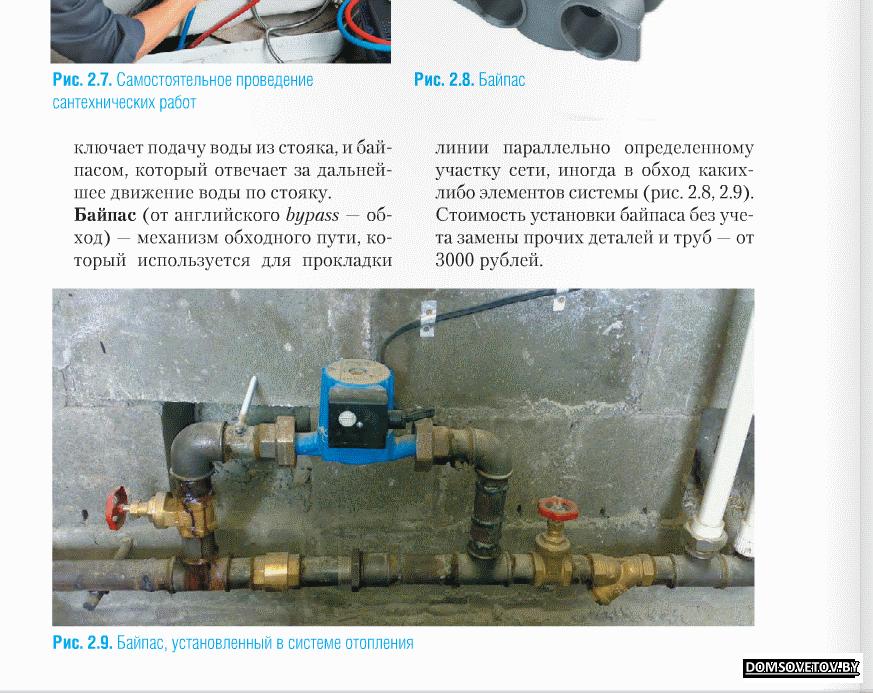 Принцип работы перепускного клапана системы отопления