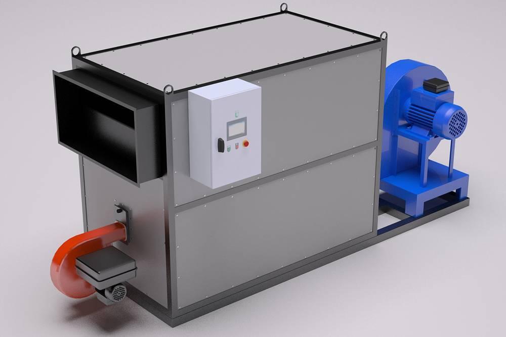 Теплогенераторы для воздушного отопления: на твердом и жидком топливе