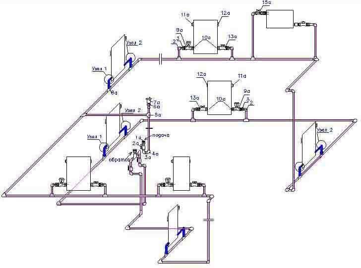 Расчет системы отопления частного дома: формулы и примеры