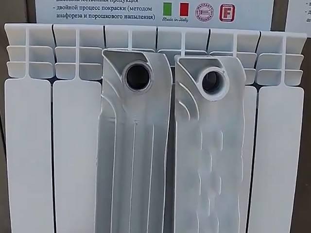 Как визуально отличить алюминиевый радиатор от биметаллического