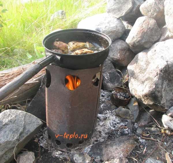 Эффективная и простая печь для палатки своими руками