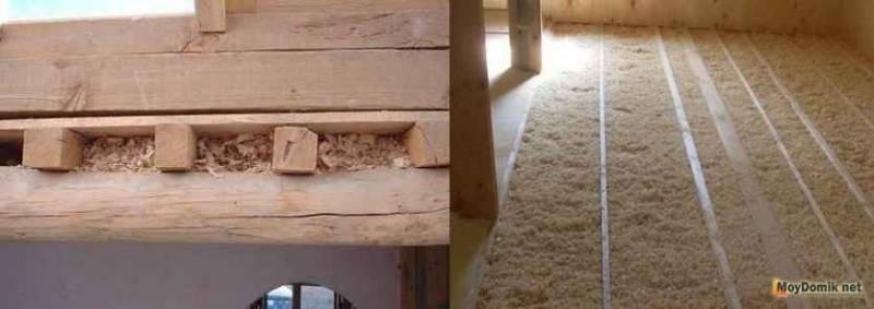 Утепление дома опилками: каркасного, каменного, кирпичного