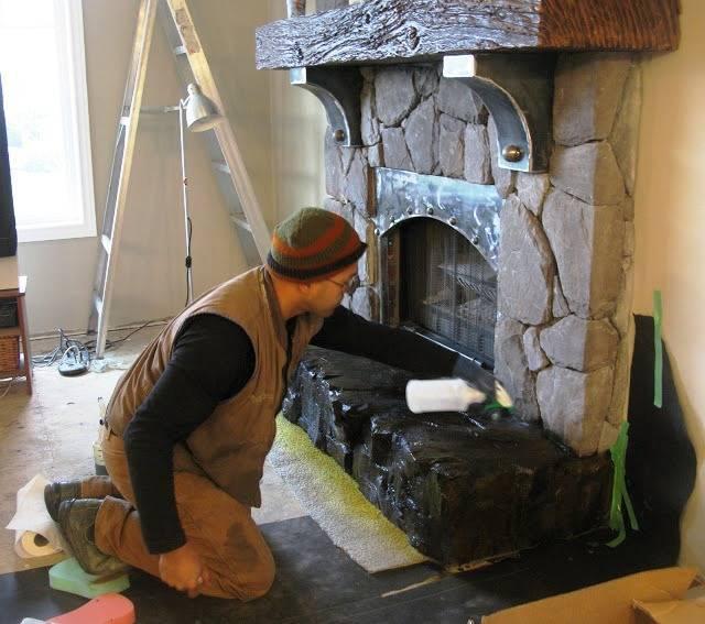 Декоративный камин своими руками + отделка камина - пошаговый фотоотчет!