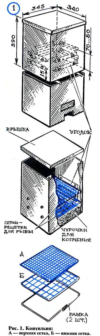 Как изготовить коптильню с гидрозатвором
