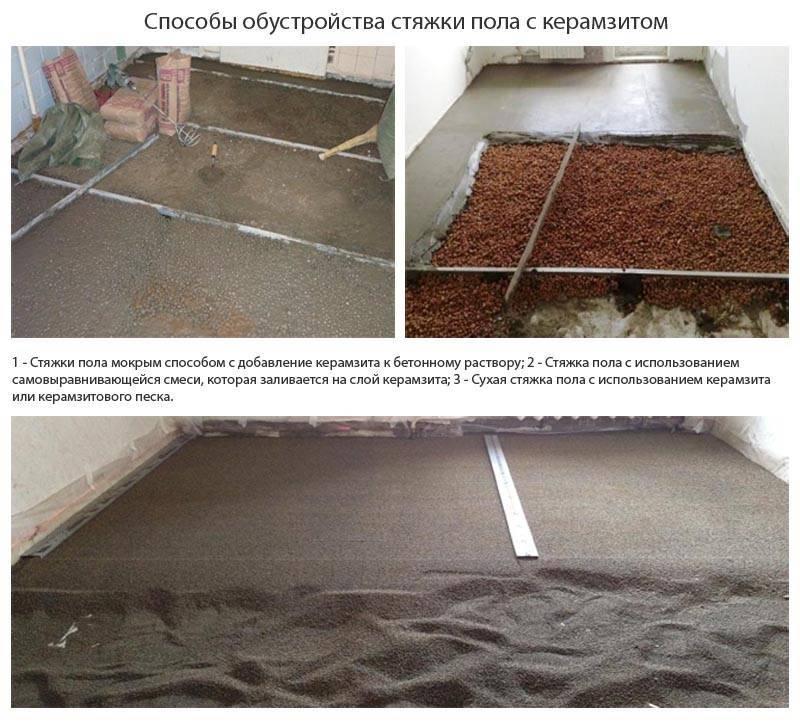 Как утеплить пол в деревянном доме керамзитом