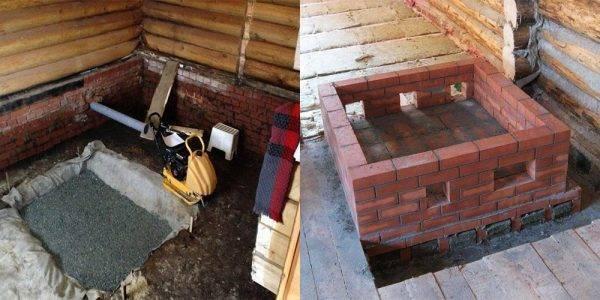 Как сделать фундамент под камин