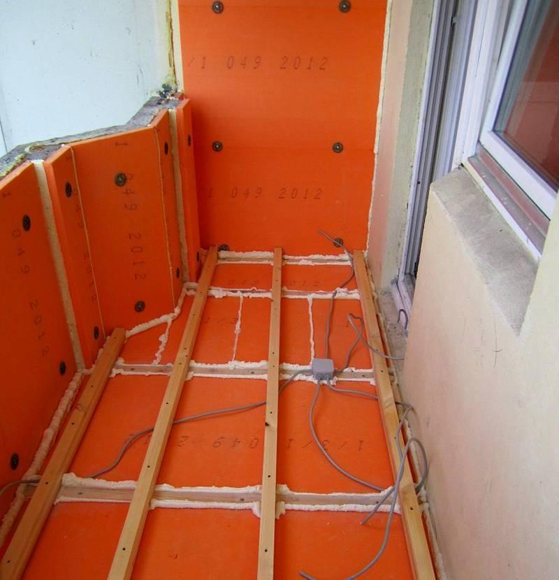 Утепление балкона пеноплексом - пошаговая инструкция