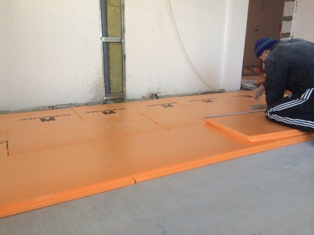 Утепление бетонного пола пеноплексом в частном доме