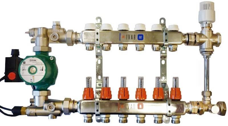 Смесительный узел для теплого пола: схема подмеса своими руками, монтаж группы подмеса, регулировка. подключение