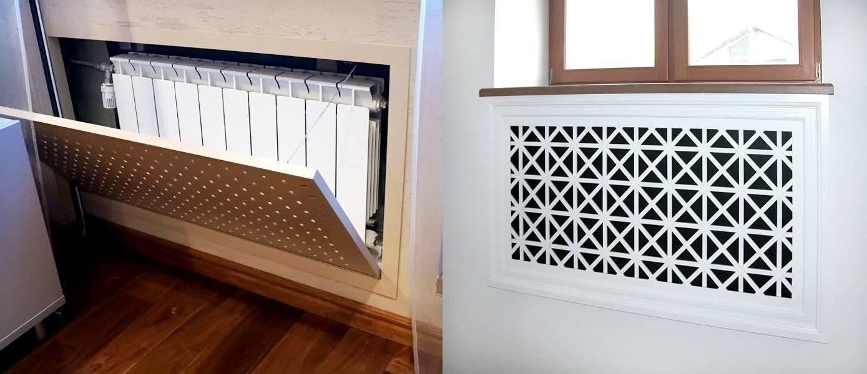 Как закрыть батарею и трубы отопления гипсокартоном - короба и ниши в комнате и на кухне