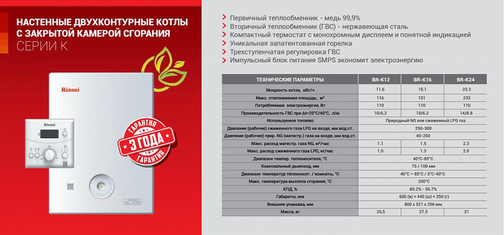 Обзор газовых котлов rinnai. коды ошибок газовых котлов rinnai – значение и устранение неисправностей