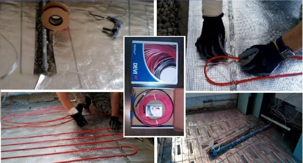 Саморегулирующийся теплый пол - виды греющих кабелей, особенности применения и монтаж