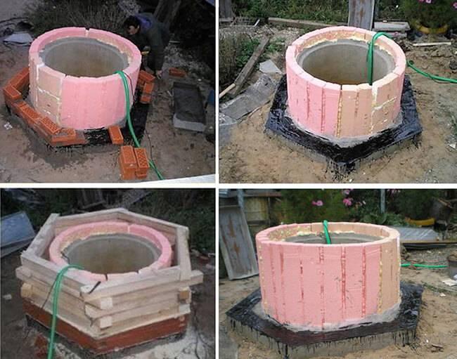 Как утеплить колодец из бетонных колец своими руками
