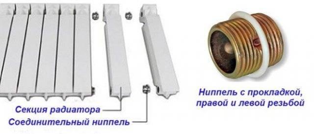 Как самостоятельно добавить секции к радиатору из алюминия