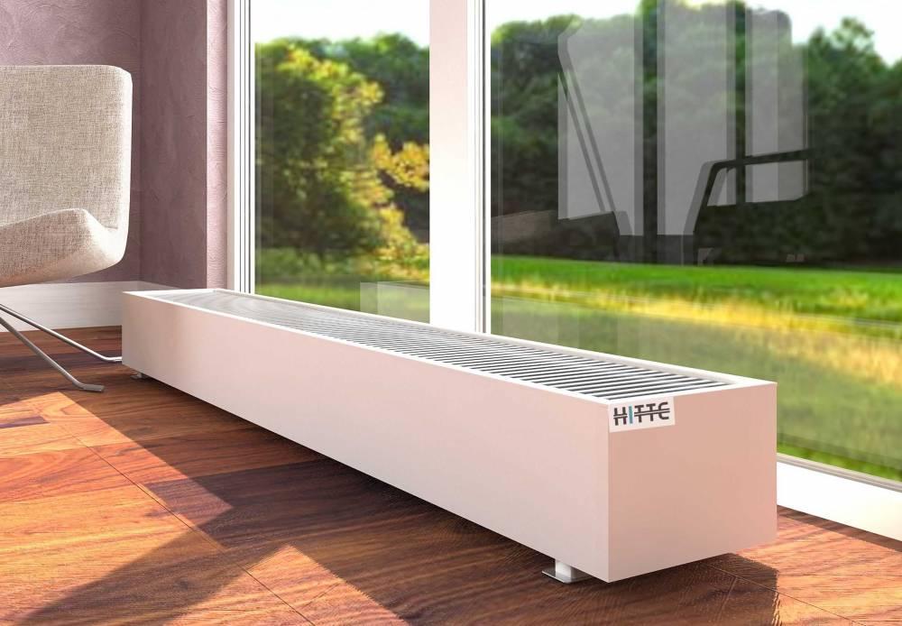 Батареи в полу: напольные встраиваемые радиаторы отопления, внутрипольные приборы, встроенные под окном