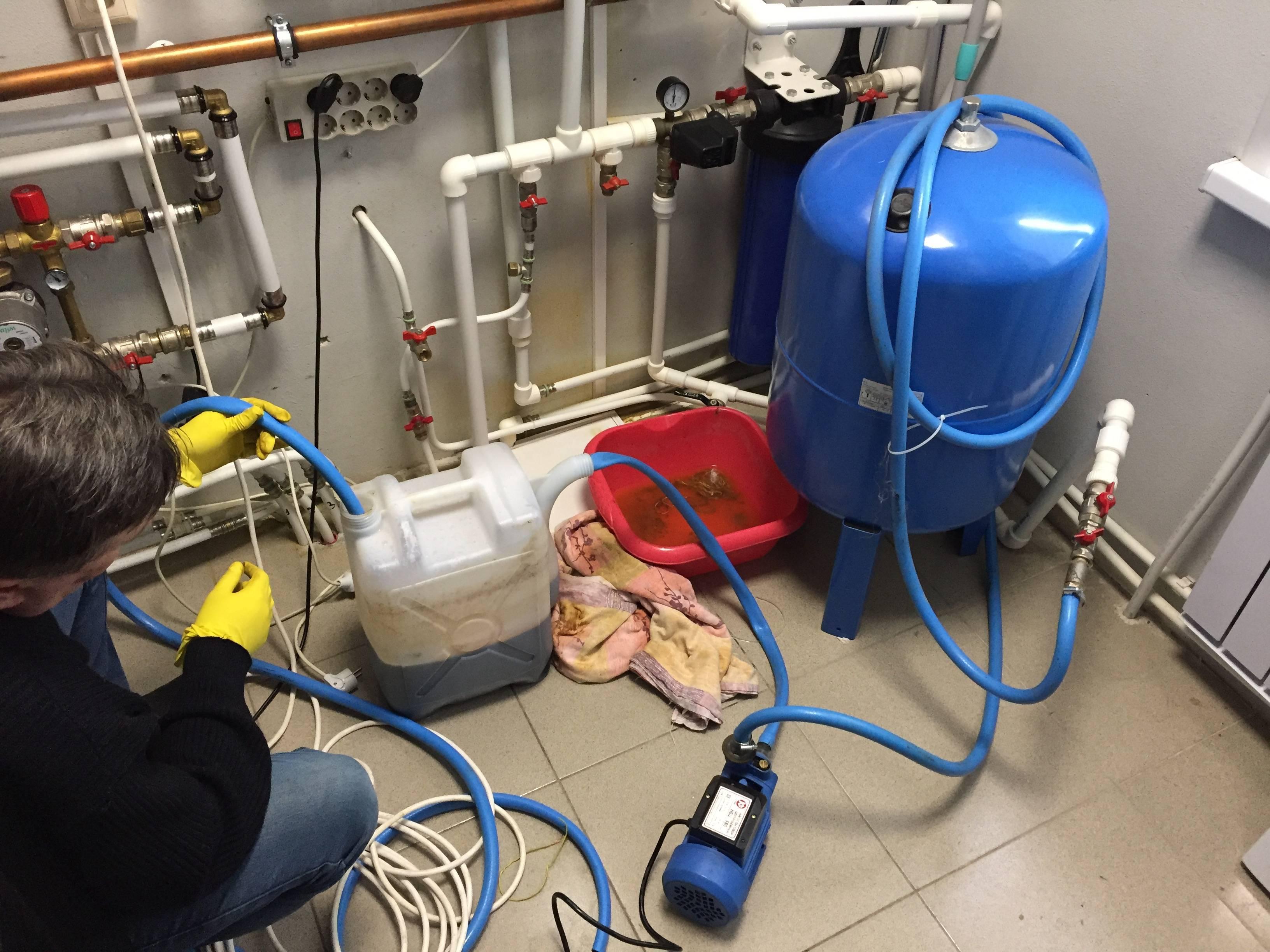Промывка системы отопления в мкд