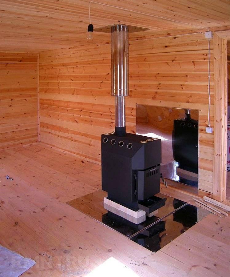 Установка печи в деревянном доме своими руками: правила монтажа каминов
