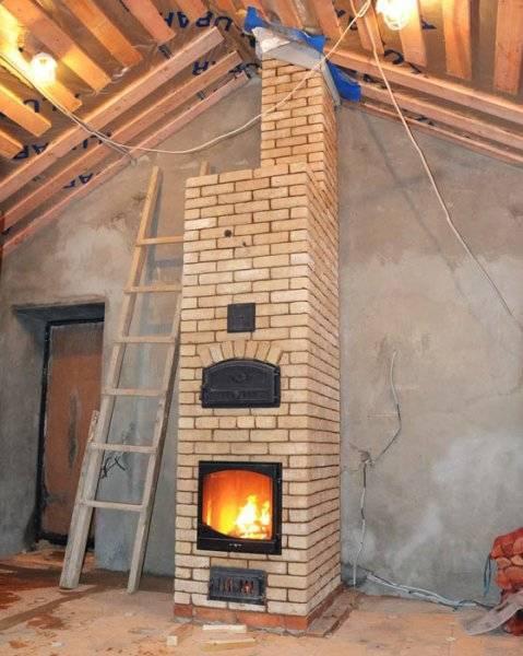 Мини печь из кирпича своими руками: печка для дачи на дровах, отопительный камин