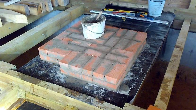 Фундамент под печь в бане: инструкция по монтажу
