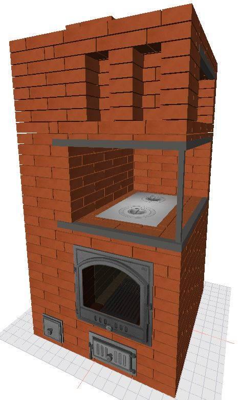 Кирпичная печь с водяным контуром для отопления дома своими руками