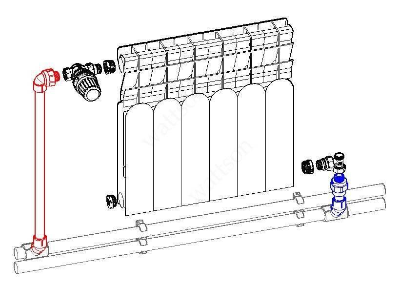 Как подсоединить радиатор отопления к полипропиленовой трубе?