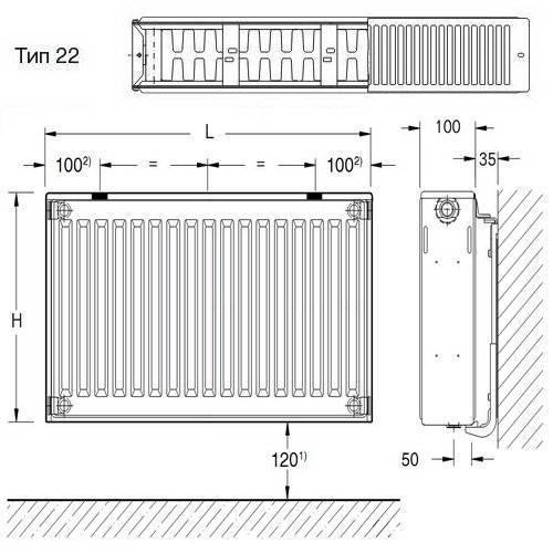 Расчет мощности батарей отопления - как рассчитать самому