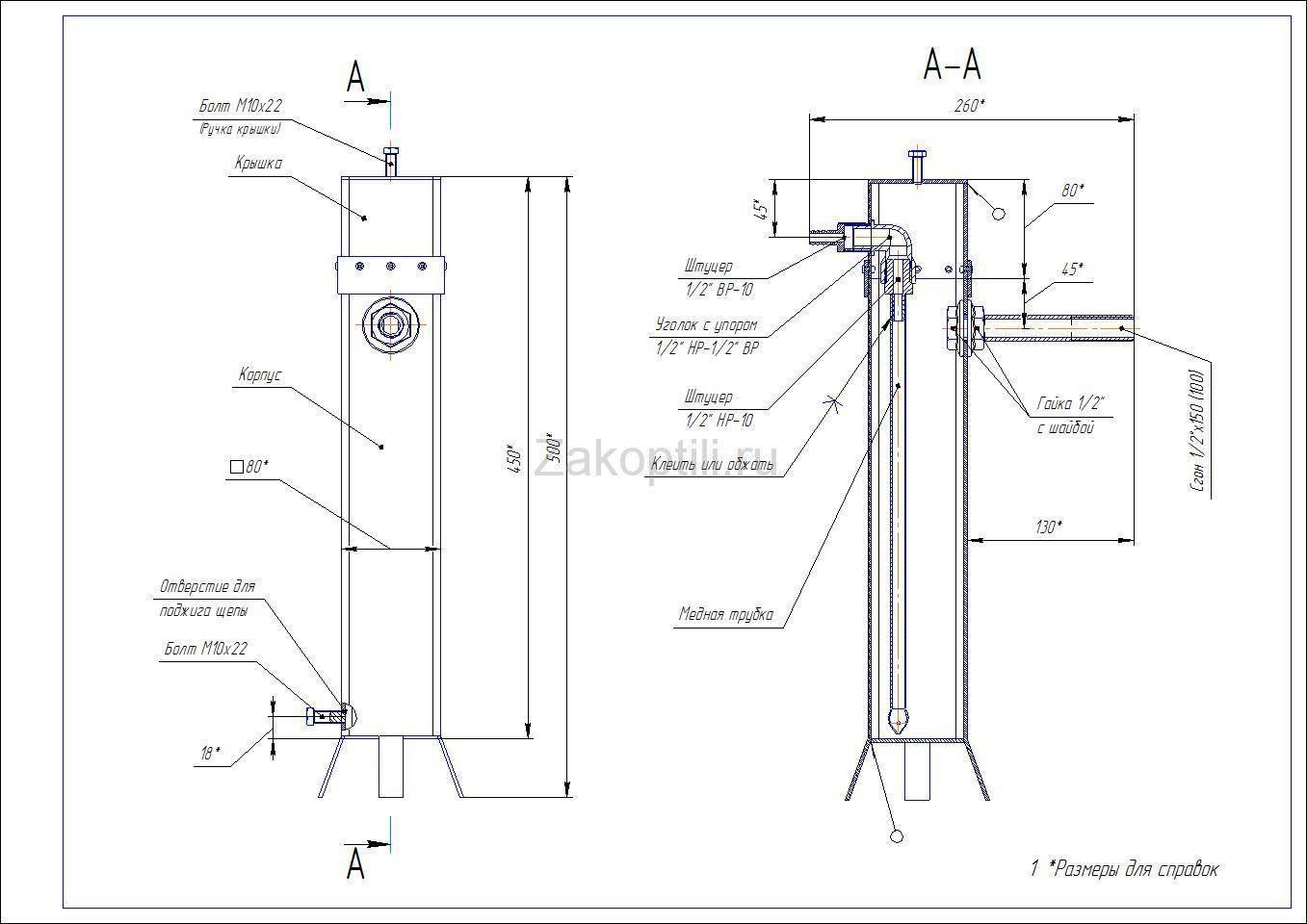 Дымогенератор для копчения своими руками: чертежи, как сделать