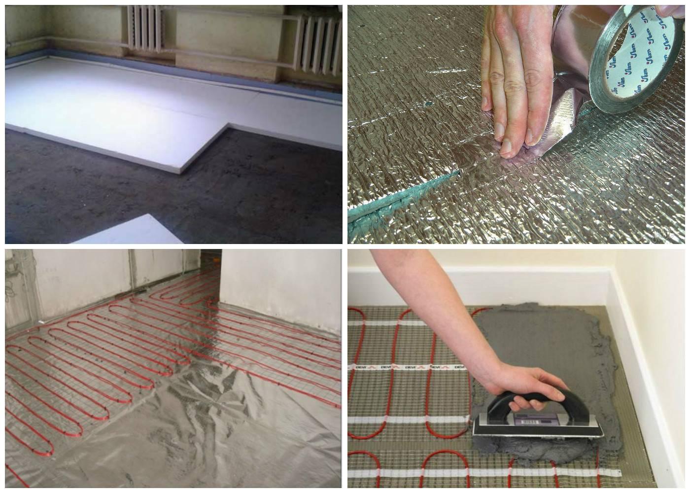 Теплый пол электрический своими руками - монтаж, пошаговая инструкция!