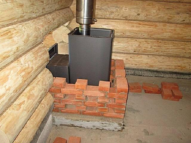 Фундамент под печь — варианты установки банной печи