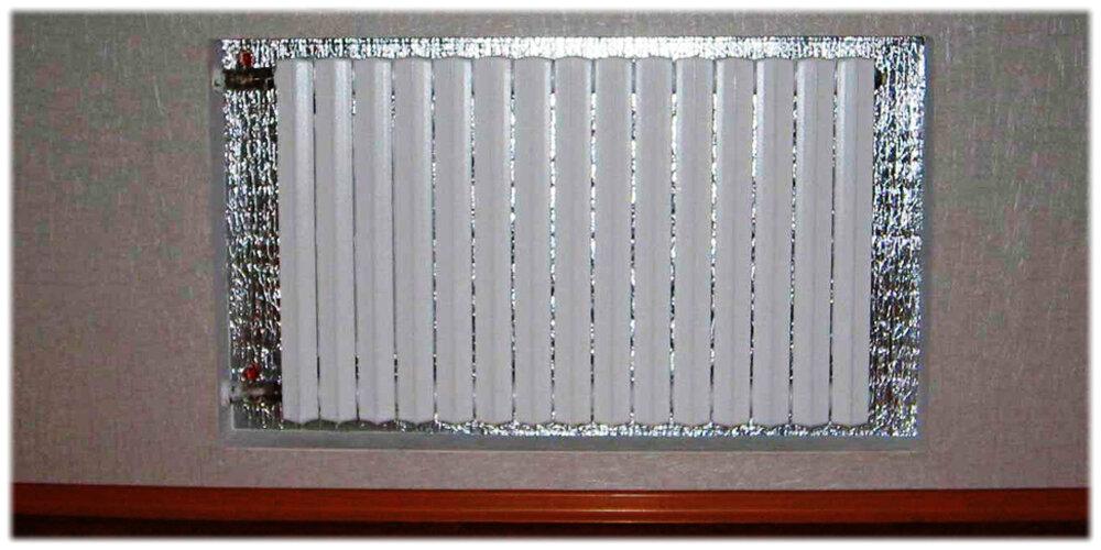 Утепление стены за батареей центрального отопления. теплоотражающий экран за радиатором: как установить самостоятельно и преимущества его использования