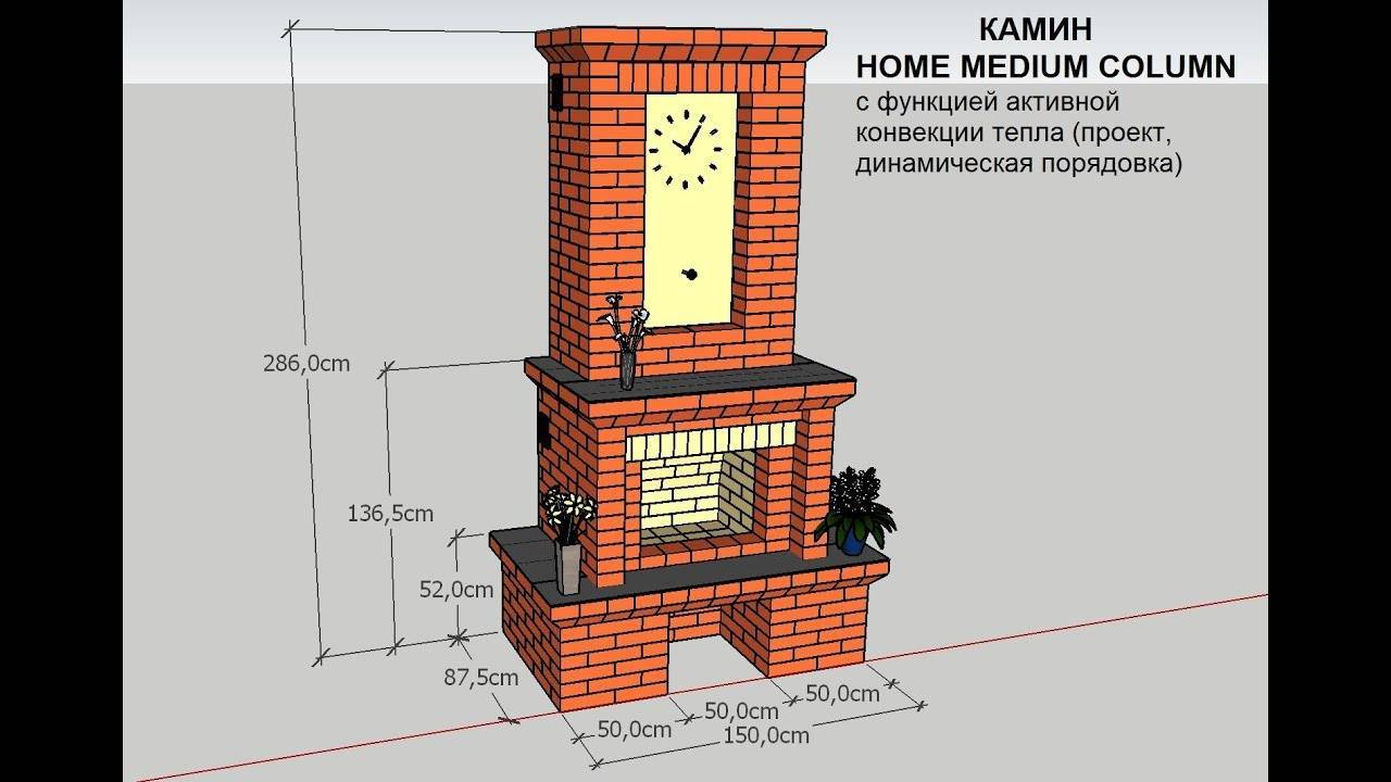 Проекты каминов из кирпича: проекты печей каминов из кирпича, детали на фото и видео