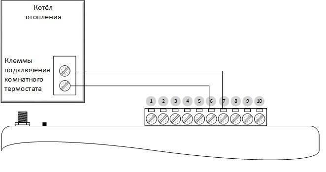 Термодатчик для газового котла отопления: как подключить и настроить терморегулятор, схема