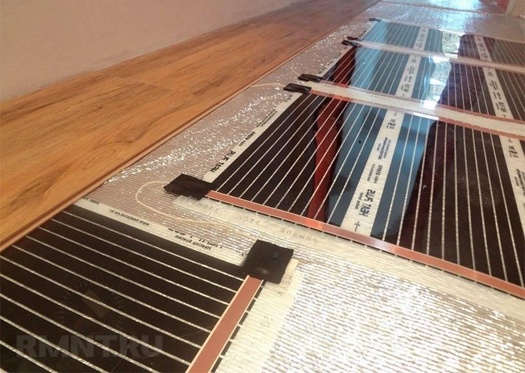 Пленочный теплый пол – как выбрать под плитку, линолеум, ламинат и ковролин, правила монтажа