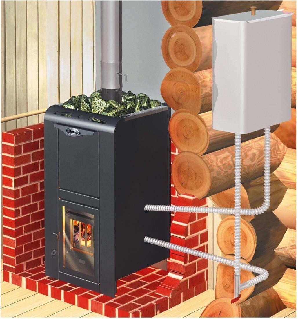 Печь для отопления дома с водяным отоплением, на дровах, монтаж, преимущества, фото