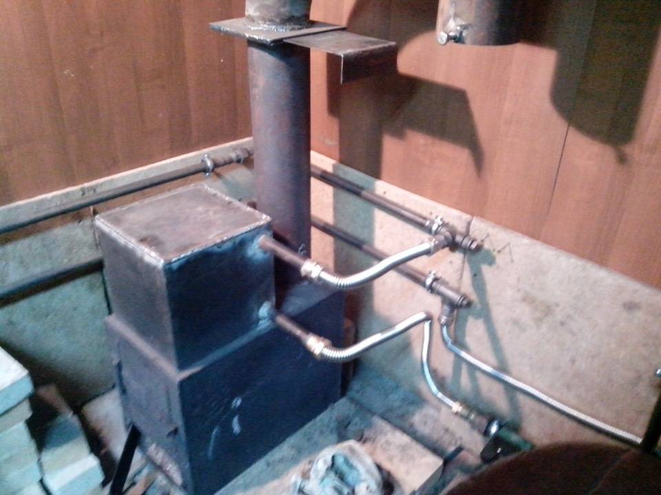 Как устроена буржуйка с водяным контуром – строительство своими руками