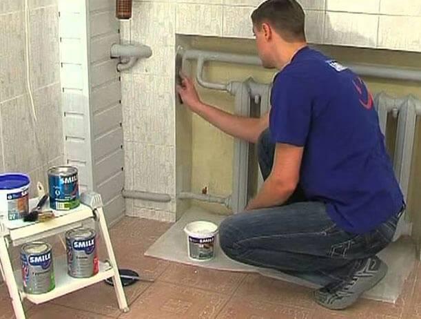Как самостоятельно покрасить трубы отопления