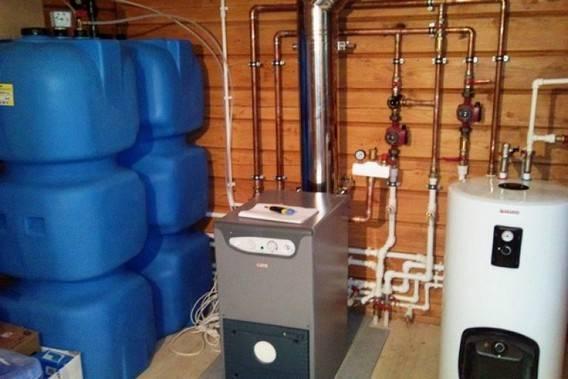 Отопительные котлы на солярке, какой расход топлива необходим для обогрева частного дома, фото и видео примеры