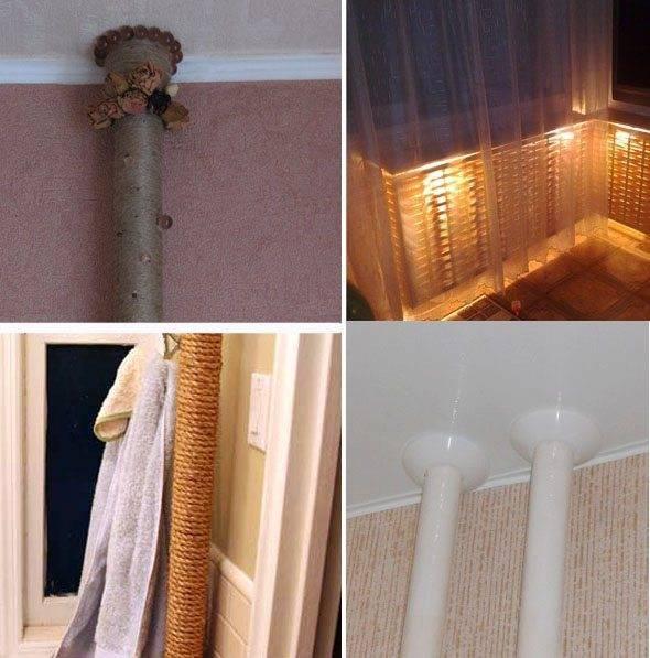 Декорирование труб отопления - оригинальные идеи для декора