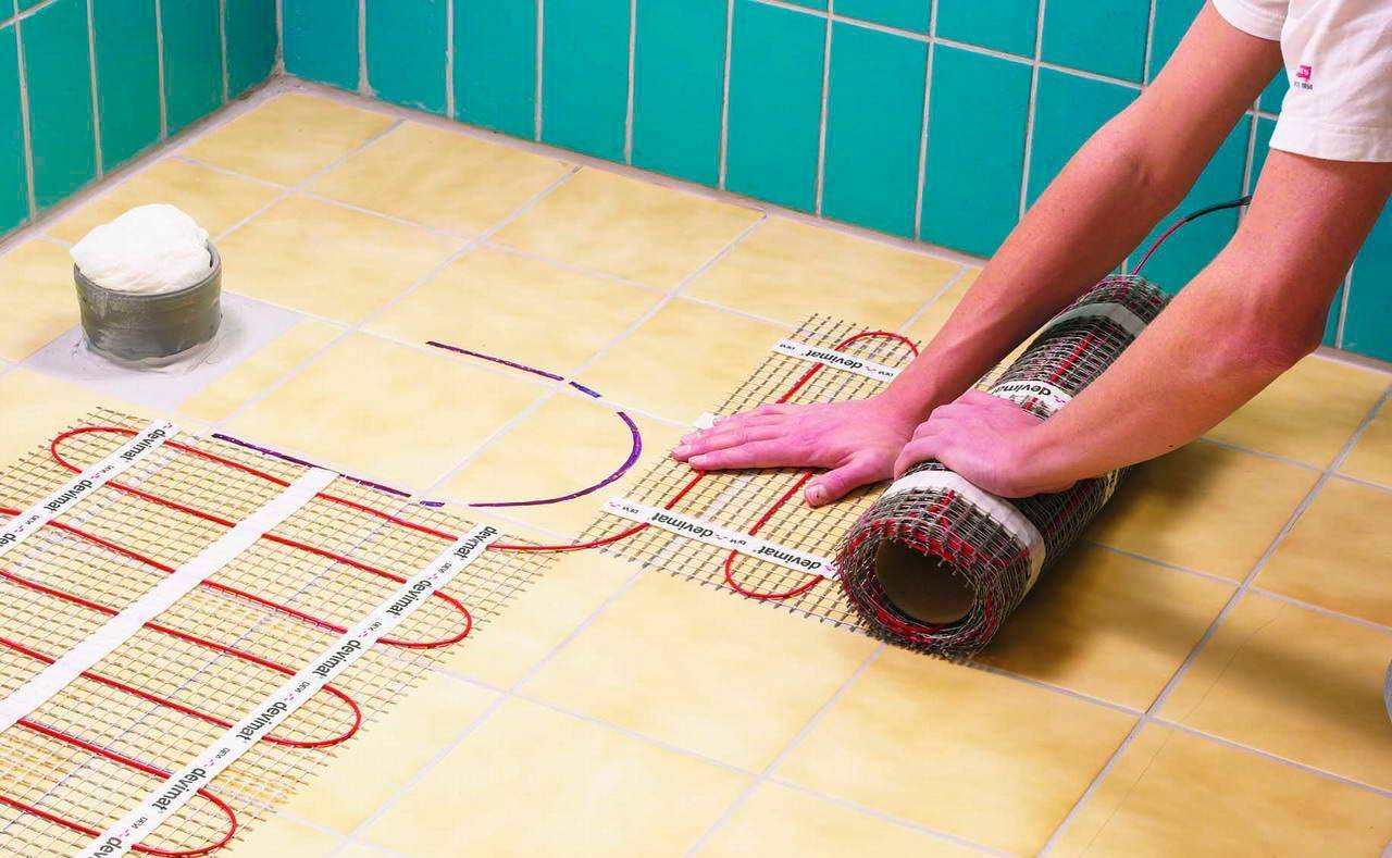 Укладка электрического теплого пола под плитку: технология монтажа электро пола, проводной эл кабель