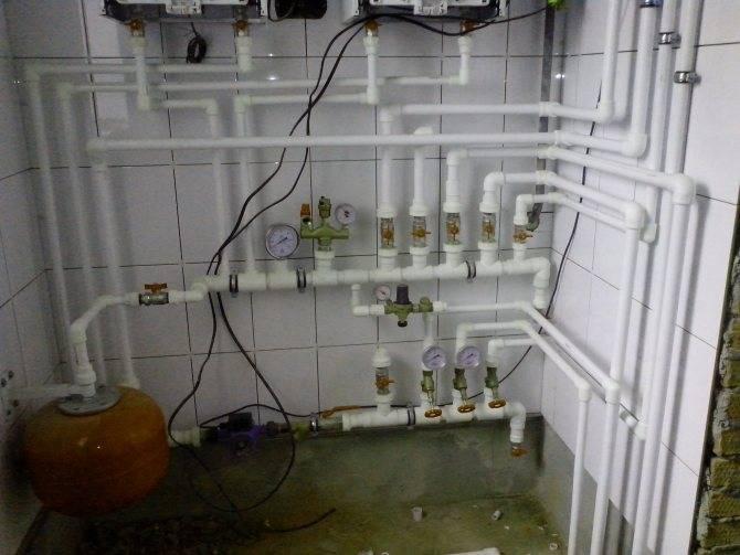 Обвязка котла отопления полипропиленом: схемы, фото, видео