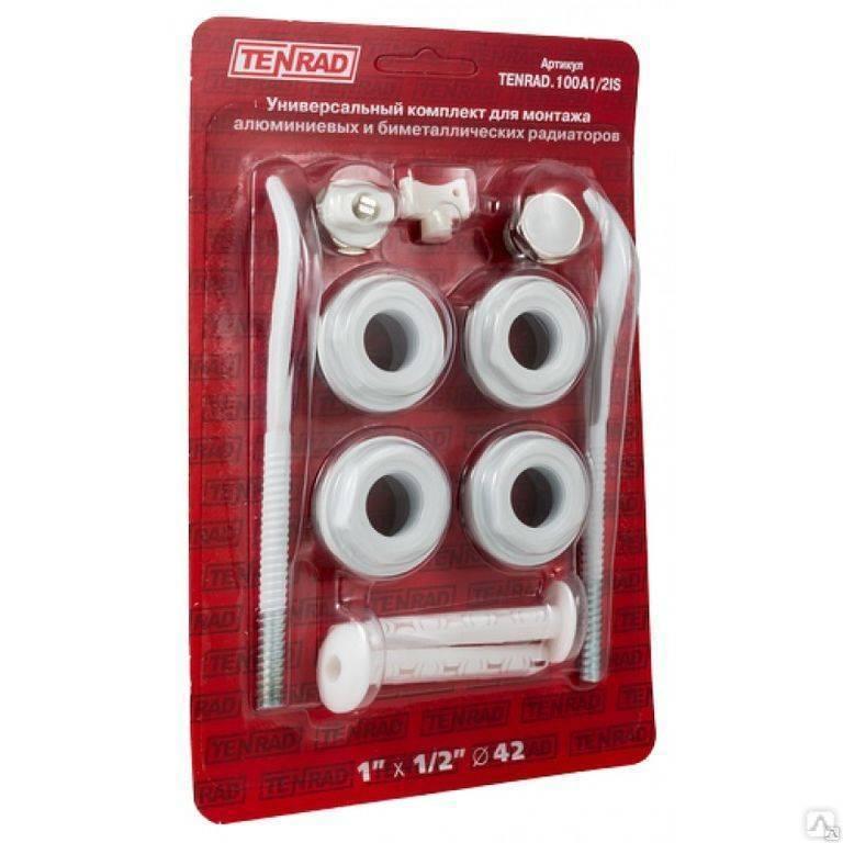 Комплект для радиаторов: выбор, особенности футорок, уплотнительных колец, кранов маевского, заглушек и кронштейнов - ремонт