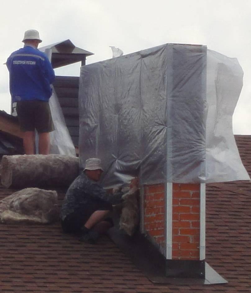 Огнеупорный утеплитель для дымохода - про кровлю и фасадные работы