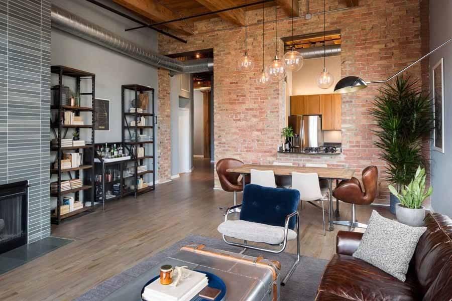Как оформить интерьер гостиной в стиле лофт?