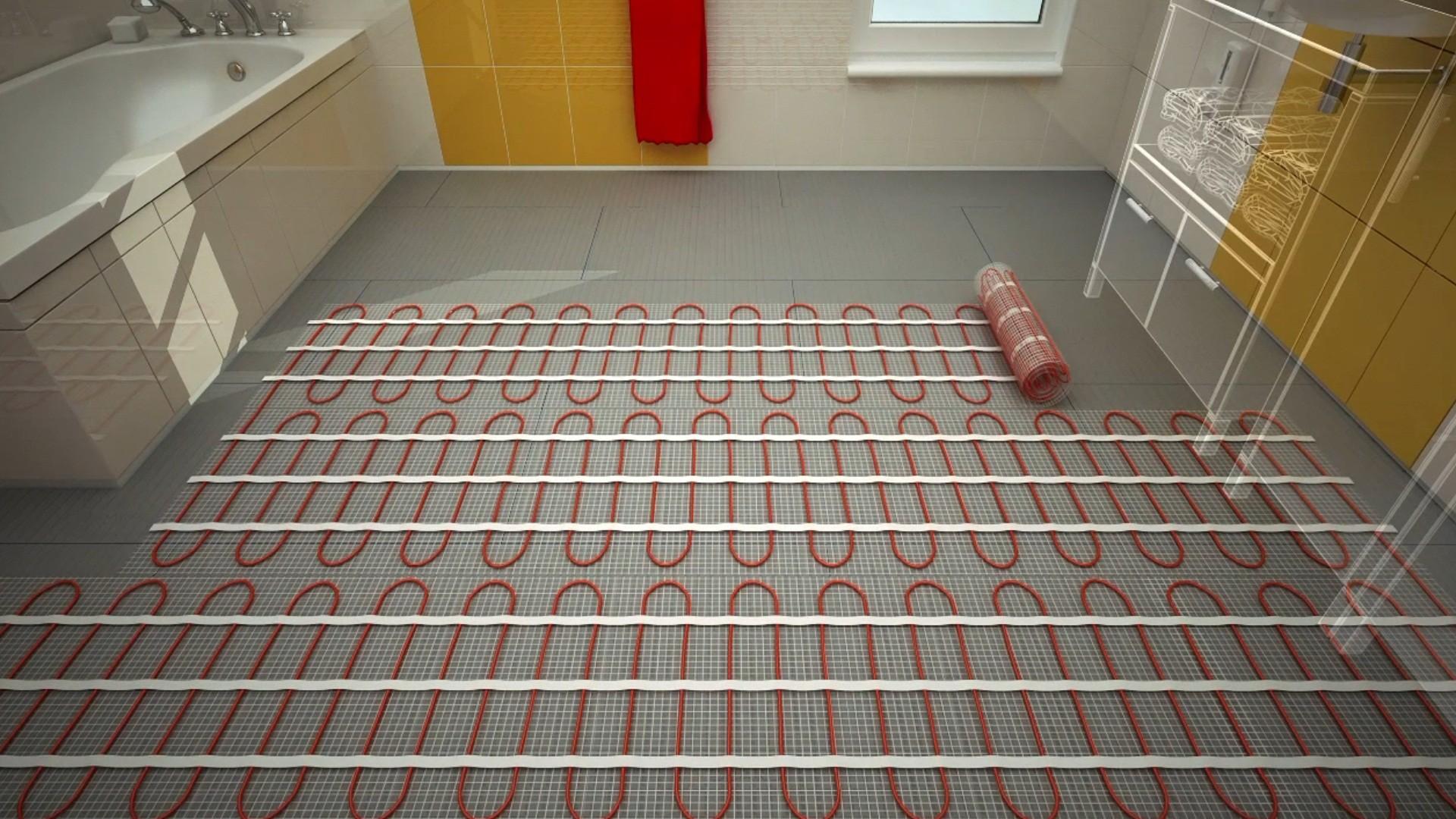 Как укладывать теплый электрический пол под керамическую плитку?