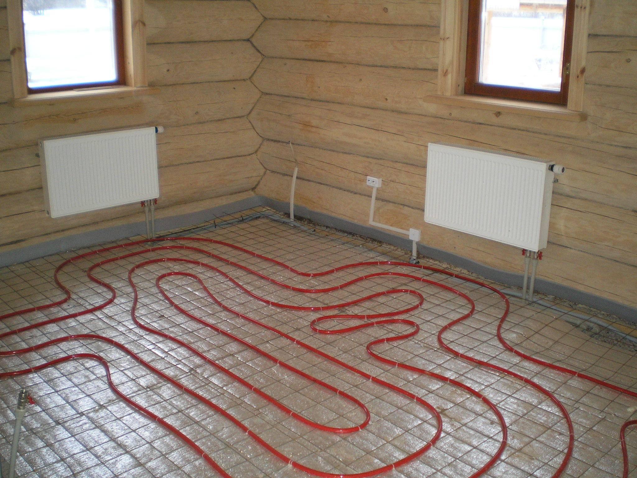 Электрические теплые полы на деревянный пол
